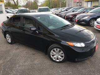 Used 2012 Honda Civic LX/ 5 SPEED/ PWR GROUP/ TINTED/ WARRANTY INCLUDED! for sale in Scarborough, ON