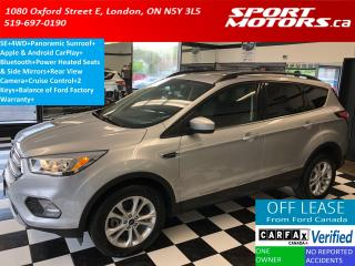 Used 2017 Ford Escape SE 4WD+Panoramic Roof+Apple Play+Sensors for sale in London, ON