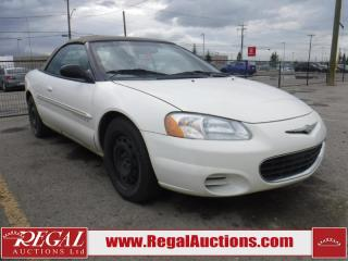 Used 2001 Chrysler Sebring LX 2D Convertible for sale in Calgary, AB
