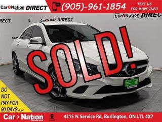 Used 2016 Mercedes-Benz CLA-Class 250 4MATIC| LOW KM'S| NAVI| BACK UP CAMERA| for sale in Burlington, ON