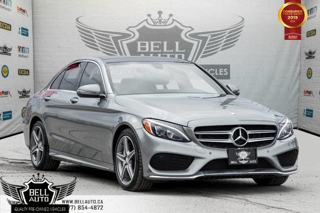 2016 Mercedes-Benz C-Class C 300, AMG PKG, NAVI, BACK-UP CAM, PANO ROOF, BLIND SPOT