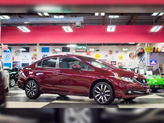 Used 2015 Honda Civic Sedan TOURING AUT0 NAVI LEATHER SUNROOF CAMERA 77K for sale in North York, ON