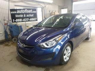 Used 2016 Hyundai Elantra L for sale in St-Raymond, QC