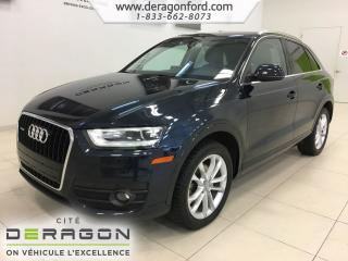 Used 2015 Audi Q3 Technik Toit Camera for sale in Cowansville, QC