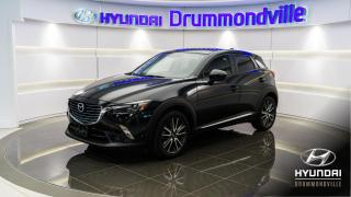 Used 2017 Mazda CX-3 GT + GARANTIE + HUD + NAVI + TOIT + MAGS for sale in Drummondville, QC
