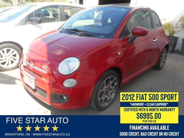 2012 Fiat 500 S *Clean Carproof* Certified w/ 6 Month Warranty