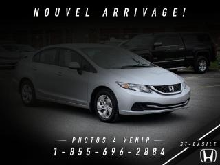 Used 2013 Honda Civic LX for sale in St-Basile-le-Grand, QC