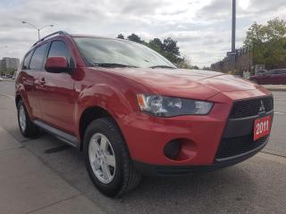 Used 2011 Mitsubishi Outlander ES-1 Owner-Leather-Bluetooth-DVD-AUX-Alloys for sale in Scarborough, ON