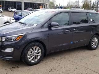 New 2020 Kia Sedona LX+; 8PASS, BLUETOOTH, BACKUP CAM, HEATED SEATS, WIRELESS CHARGER AND MORE for sale in Edmonton, AB