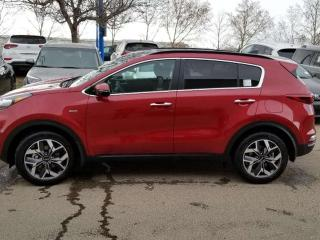 Used 2020 Kia Sportage EX PREM AWD; ADVANCED SAFTEY, LEATHER, BLUETOOTH, WIRELESS PHONE CHARGER, BACKUP CAM, HEATED SEATS AND MORE! for sale in Edmonton, AB