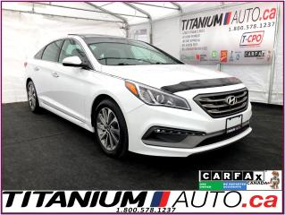 Used 2015 Hyundai Sonata Sport+GPS+Camera+Pano Roof+Blind Spot+Heated Seats for sale in London, ON