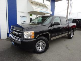 Used 2010 Chevrolet Silverado 1500 LT 4x4, Crew Cab, 4.8L V8, B.C. Truck for sale in Langley, BC