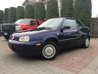 Used 2002 Volkswagen Cabrio GLS *ONLY 102,000KM* *SPEED MANUAL* for sale in Surrey, BC