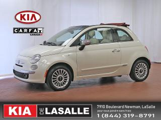 Used 2013 Fiat 500 C Lounge // Cuir et Toit rouge // AC // Bluetooth // for sale in Montréal, QC