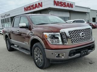Used 2017 Nissan Titan Platinum Reserve 4x4 w/all leather,NAV,panoramic steering,climate control,heated-cooled front seats,lane assist for sale in Cambridge, ON