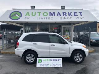 Used 2002 Toyota RAV4 LOW KM FREE BCAA & IN-HOUSE FINANCE IT! for sale in Langley, BC