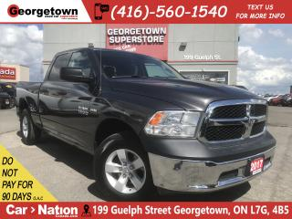 Used 2017 RAM 1500 SXT | 5.7L| 4X4 | 6'4 BOX | 47K|PWR GRP |SAT RADIO for sale in Georgetown, ON