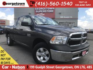 Used 2017 RAM 1500 SXT | 3.6L| 4X4 | 6'4 BOX | 36K|BU CAM |SAT RADIO for sale in Georgetown, ON