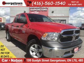 Used 2017 RAM 1500 SXT | 3.6L| 4X4 | 6'4 BOX | 30K|PWR GRP |SAT RADIO for sale in Georgetown, ON