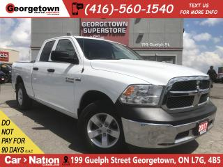 Used 2017 RAM 1500 SXT | 5.7L| 4X4 | 6'4 BOX | 33K|PWR GRP |SAT RADIO for sale in Georgetown, ON