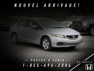 Used 2014 Honda Civic LX for sale in St-Basile-le-Grand, QC