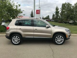Used 2015 Volkswagen Tiguan Highline AWD Panoramic Moonroof Navigation for sale in Red Deer, AB
