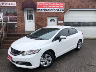 Used 2015 Honda Civic LX 5 spd Bluetooth Full Pwr Group A/C Heated Seats for sale in Bowmanville, ON