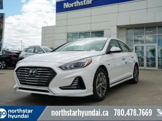 Used 2019 Hyundai Sonata Plug-In Hybrid Ultimate: 8 TOUCH SCREEN NAV, SYSTEM,INFINITY PREMIUM AUDIO,LEATHER SEATING SURFACE for sale in Edmonton, AB