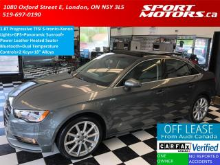 Used 2015 Audi A3 1.8T Progressiv TFSI S-tronic+GPS+Xenons+Pano Roof for sale in London, ON