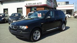 Used 2004 BMW X3 4 portes, traction intégrale, 3,0i for sale in Sherbrooke, QC