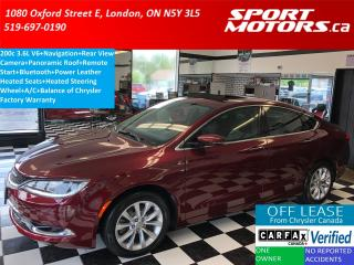 Used 2015 Chrysler 200 C 3.6L V6+GPS+Camera+Pano Roof+Remote Start=A/C for sale in London, ON