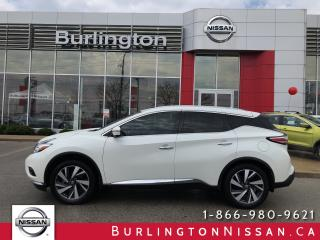Used 2016 Nissan Murano Platinum, ACCIDENT FREE, 1 OWNER ! for sale in Burlington, ON