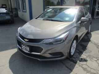 Used 2018 Chevrolet Cruze GAS SAVING LT MODEL 5 PASSENGER 1.4L - TURBO.. FACTORY WARRANTY.. HEATED SEATS.. BOSE AUDIO.. BACK-UP CAMERA.. SUNROOF.. WI-FI HOTSPOT.. for sale in Bradford, ON