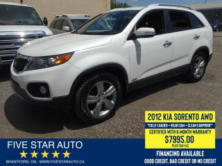 Used 2012 Kia Sorento EX AWD *Clean Carproof* Certified w/ 6 M Warranty for sale in Brantford, ON