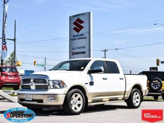 Used 2012 RAM 1500 LongHorn Crew Cab 4x4 ~Nav ~Leather ~Power Sunroof for sale in Barrie, ON
