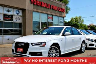 Used 2015 Audi A4 S-LINE REAR PARKING SENSORS LEATHER SUNROOF BLUETOOTH for sale in Toronto, ON