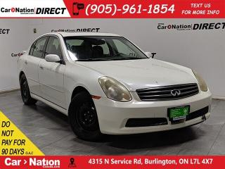 Used 2005 Infiniti G35X | AS-TRADED| AWD| SUNROOF| HEATED SEATS| for sale in Burlington, ON