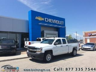 Used 2016 Chevrolet Silverado 1500 WT  -  1WT Package - $220.54 B/W for sale in Bolton, ON