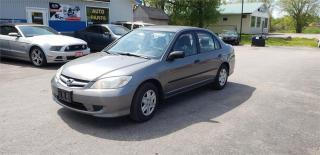 Used 2005 Honda Civic Sdn SE 4dr auto a/c safetied 131k SE for sale in Madoc, ON