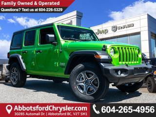 New 2019 Jeep Wrangler Unlimited Sport - Heated Seats for sale in Abbotsford, BC