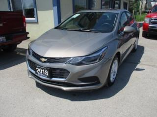 Used 2018 Chevrolet Cruze GAS SAVING LT MODEL 5 PASSENGER 1.4L - TURBO.. FACTORY WARRANTY.. HEATED SEATS.. BOSE AUDIO.. POWER SUNROOF.. WI-FI HOTSPOT.. BACK-UP CAMERA.. for sale in Bradford, ON