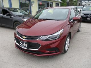 Used 2016 Chevrolet Cruze FUEL EFFICIENT LT MODEL 5 PASSENGER 1.4L - TURBO.. HEATED SEATS.. TOUCH SCREEN.. BACK-UP CAMERA.. BLUETOOTH SYSTEM.. for sale in Bradford, ON