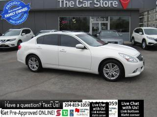 Used 2011 Infiniti G37 X AWD NAVIGATION htd leather PUSH START sunroof for sale in Winnipeg, MB