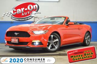 Used 2016 Ford Mustang 300 HP RACE RED CONVERTIBLE REAR CAM PADDLE SHIFT for sale in Ottawa, ON