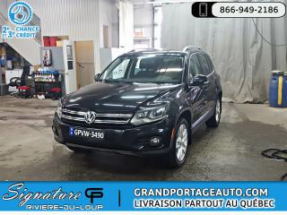 Used 2016 Volkswagen Tiguan Comfortline 4 portes 4MOTION BA for sale in Rivière-Du-Loup, QC