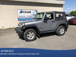Used 2014 Jeep Wrangler 2 Dr Sport for sale in Rivière-Du-Loup, QC