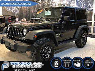 Used 2016 Jeep Wrangler SPORT*2TOIT/MAGS/4X4* for sale in Laval, QC