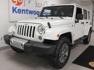 Used 2015 Jeep Wrangler Unlimited Sahara unlimited 4WD with heated seats for sale in Edmonton, AB