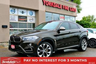 Used 2016 BMW X6 35i SPORT PKG NAVI HEADS UP DISPLAY 360 CAM RUNNING BOARDS for sale in Toronto, ON