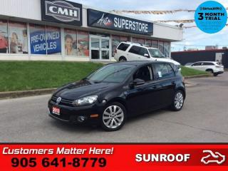 Used 2013 Volkswagen Golf Wolfsburg  DIESEL AUTO ROOF HS BT CLIMATE for sale in St. Catharines, ON
